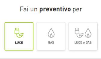 preventivo luce gas